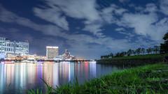 Sky sea city and forest (sapphire_rouge) Tags: ngc 東京 お台場 tokyobay nightview 臨海副都心 湾岸 reflection seaside odaiba japan tokyo レインボーブリッジ rainbowbridge