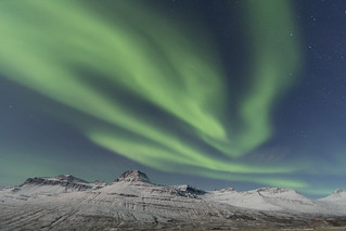 Northern lights in Fáskrúðsfjörður