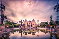 Sunset in Seville ... Museum of Modern Arts and Traditions, view from Plaza America (nigel_xf) Tags: sevilla spain spanien espana sunset sonnenuntergang abendstimmung spiegelung refexion reflection sky himmel wolken clouds nikon d750 nigel nigelxf vsfototeam seville museumofmodernartsandtraditions plazaamerica