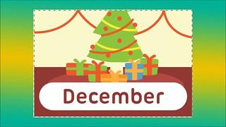 متع عقل طفلك |كلمات عربي انجليزي -اسماء الاشهرالميلادية بالانجليزي|شهر ديسمبر-December|فيديو تعليمي