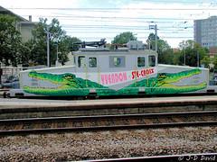 Crocodile Ge 4/4 (jean-daniel david) Tags: transport train locomotive crocodile rails chemindefer yverdonlesbains suisse suisseromande ciel nuage vert ville