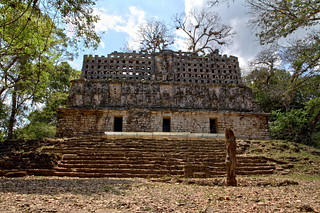 Maya temple in Yaxchilán site