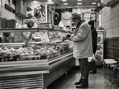 Street 452 (`ARroWCoLT) Tags: butcher kasap meat market shopping nx300 samsungcamera evening photography mirrorless streetphotography sokak man people blackwhite bw art insan human arrowcolt monochrome bnwdemand bnwpeople bnw bnwstreet ishootpeople blackandwhite outdoor portrait streetportrait 30mm primelens oldpeople