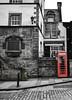 Red phone box (picsbyCaroline) Tags: telephone red scotland street walk box hello speak talk old retro