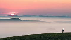 In the Right Place (Janos Puskas) Tags: sunrise sune fog foggy autumnmorning colorful photographer felvidék medvesalja 650d magicdrainpipe