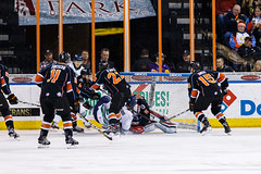 """Kansas City Mavericks vs. Florida Everblades, February 18, 2018, Silverstein Eye Centers Arena, Independence, Missouri.  Photo: © John Howe / Howe Creative Photography, all rights reserved 2018 • <a style=""""font-size:0.8em;"""" href=""""http://www.flickr.com/photos/134016632@N02/39491162995/"""" target=""""_blank"""">View on Flickr</a>"""