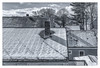 Snow on the Roof (Timothy Valentine) Tags: 2018 0218 blackandwhite hrsw fbpost silverefex large rooftop chimney snow attleboro massachusetts unitedstates us