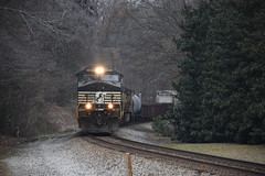 """From around the Bend"" NS 173 12/31/17 (tjtrainz) Tags: ns norfolk southern 173 manifest train norcross ga georgia division greenville district 944cw c449w ac44c6m cn canadian national et44ac up union pacific ac4460cw"