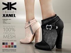Xanel :: Ankle Boots :: 10 Colors ({kokoia}) Tags: boots xanel ankle mesh kokoia maitreya slink tmp belleza woman booty winter heel high booties secondlife avatar 3d