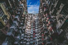Fok Cheong Building, Hong Kong (SNeequaye) Tags: hongkong china peoplesrepublicofchina asia nikon nikond750 d750 tamron2470mm nikon1635mm tamron70200mm nikon105mmfisheye fisheye hongkongisland kowloonnikon tamron sigma sigma35mm peninsula kowloon victoriapeak thepeak lantauisland tiantanbuddha ngongping360 polinmonastery bankofchinatower bankofchina hongkongandshanghaibankingcorporationheadquarters hsbctower statuesquare internationalcommercecentre sky100 cheungkongcenter centralplaza twointernationalfinancecentre mtr masstransitrailway central admiralty quarrybay fokcheongbuilding fokcheong nanlangarden victoriaharbour skyline hongkongskyline peaktram night slowexposure exposure geometric avenueofstars dense skyscrapers