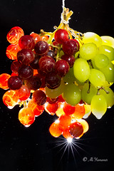 Grapes and the Waterdrops I (Ali Yamaner) Tags: grapes waterdrops red green fruits studio light