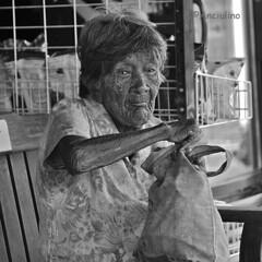 Old Thai woman (Anciulino) Tags: portrait photographers photo photography photos peoples people blackandwhite blackwhite bw urban street streetphoto streetphotos streetphotography southeastasia strretphotography travel thailand asian