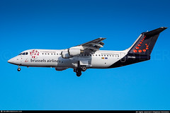 TLS.2008 #SN #RJ100 #Avro #Europalia #AWP (CHR / AeroWorldpictures Team) Tags: brussels airlines british aerospace avro rj100 msn e3342 eng ly lf5071f reg oodwi rmk sticker europalia history aircraft first flight test g6342 built site woodford egcd delivered deltaairtransport operating sabena sn sab config cabin cy97 tsf snbrusselsairlines brusselsairlines bel leased falko return leasor falkoregionalaircraft stored cranfield egtc 1999 uk england plane avroliner aircrafts airplane planespotting toulouse tls lfbo nikon d80 nikkor zoomlenses 70300vr raw lightroom awp aeroworldpictures