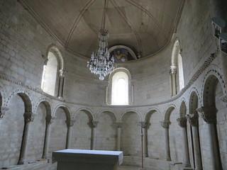 Choeur, église romane, St Blaise (XIIe-XIIIe), Lacommande, Béarn, Pyrénées-Atlantiques, Nouvelle-Aquitaine, France.