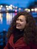 Deb, Haarlem 2018: All smiles (mdiepraam) Tags: deb haarlem 2018 portrait pretty dutch brunette girl naturalglamour woman spaarne bluehour dof bokeh dusk
