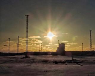 Low winter sun over a barren landscape - Helsinki, Finland - 13 January 2014 . . . #helsinki #Finland #suomi #nordic #baltic #myhelsinki #lifeinhelsinki #snapseed #january #january2014 #jätkäsaari #jatkasaari #winter #beforedevelopment #beforesunset #clou