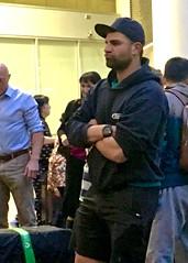 IMG_8742 (danimaniacs) Tags: christchurch newzealand hot sexy man guy cap hat beard scruff airport shorts