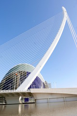 Bridge (roomman) Tags: 2018 spain valencia town city architecture style design bridge line lines straight structure high tall art building buildings ciudad ciutat des de les arts artes sciences ciencas architect traba science e cienies