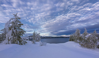 Crater Lake in Winter (Crater Lake NP, OR)