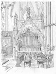 William de Greenfield monument, York Minster