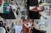 Wip shots of... (Trio Blythe) Tags: handmade blythe custom gbaby trio handstitched long flapper 1920s lace eyelashlace beaded neckpiece beads black elegant