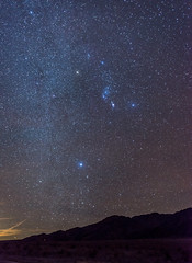 Orion and the WInter Milky Way (HubbleColor {Zolt}) Tags: sanddunes mesquiteflats stars milkyway california night deathvalley orion unitedstates us