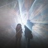 into the light (tinfrey) Tags: laserlights lichtfestivialmurten lights magiclight nightshot nightshots silhouette silhouettes smoke