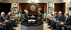جلالة الملك عبدالله الثاني يجري مباحثات مع الرئيس الفلسطيني محمود عباس في قصر الحسينية (Royal Hashemite Court) Tags: kingabdullahii jordan palestinian president mahmoud abbas royalhashemitecourt rhcjo
