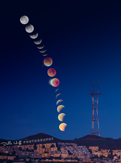 Super Blue Blood Moon over Sutro Tower