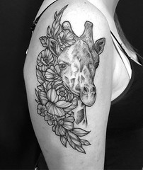 Giraffe for @shyknaps. Thanks again!! . . . #eyeofjadetattoo #eyeofjade #jeremygolden #jeremy_golden #jeremygoldentattoo #blackwork #blackworkerssubmission #darkartists #blacktattoomag #blxckink #blacktattooart #btattooing #onlyblackart #blacktattoo #blac