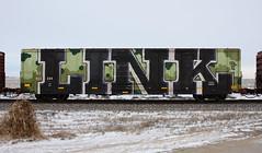 Link (quiet-silence) Tags: graffiti graff freight fr8 train railroad railcar art link sfb ta boxcar ns norfolksouthern ns463344 wholecar