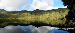 Lake Lilla (im me) Tags: australia tasmania cradlemountain lakelilla water lake clouds sky trees reflection landscape panorama mountains shadow light