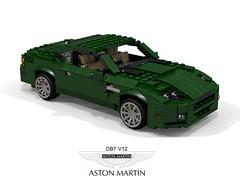 Aston Martin DB7 V12 (lego911) Tags: aston martin db7 v12 coupe ford motor company jaguar xjs great britain british auto car moc model miniland lego lego911 ldd render cad povray 1999 1990s foitsop