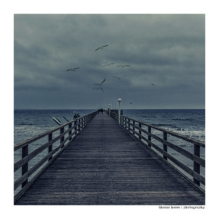 Pier on the Baltic Sea