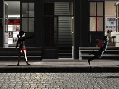A Coward get may shot in the back (AkikoQinan) Tags: violent gun second life blood death kill shot