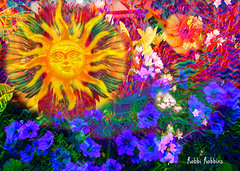 Sunny (brillianthues) Tags: sun fractal flowers floral garden abstract colorful collage photography photmanuplation photoshop