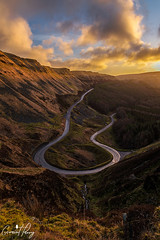 Bwlch-y-Clawdd (geraintparry) Tags: sky skies cloud clouds south wales beach landscape morning outdoor dawn skyline geraint parry geraintparry sunrise bwlch a4061 rhondda hairpin bend bends road roads hdr bracket