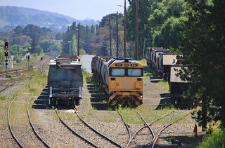 8161 shutdown in the yard at Moss Vale