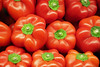 Red and Green (PDX Bailey) Tags: red green pepper food geometric pattern row stack produce unusual weird
