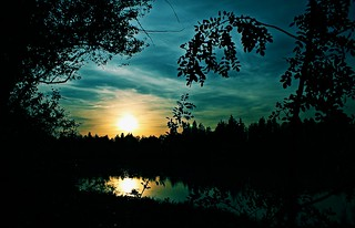 Sunset on the Ebro