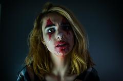 (canaan.farmer) Tags: circus clown art makeup make up girl woman creep creepy scary blood paint face cinema horror eyes bloody katey little arkansas troupe terror fear fright amusement carnival fair scream