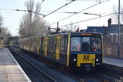 Tyne And Wear Metro 4060 and 4046 passing West Jesmond (Tom 43299) Tags: tyneandwearmetro train railtour westjesmondmetro 4060 emu