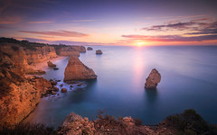 When The Dawn Breaks (Adam West Photography) Tags: adamwest albandeira algarve apostles cliffs clouds composition dusk goldenhour juniper longexposure marinha mesquita natural photographer portugal praia sea stacks stone sunrise sunset wbpa