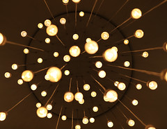Lines and Light (The Last Darkroom) Tags: light lines yellow lamp up hotel bulbs orbs gold abstract