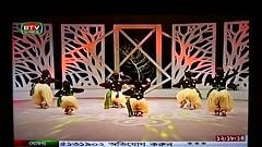 Zrayah my elder daughter on National  TV of Bangladesh (Zahidur Rahman (Thanks for the Favs, comments and ) Tags: video dance performance nationaltelevision cameraprint bangladeshtelevision indoor nikon samsung childrens family candid stage show logo yellow black languagedayperformance language bengali song music explore amazingkids shatrong shatronginstitute