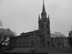 Sankt Pauli kyrka, Göteborg, 2011 (biketommy999) Tags: göteborg sverige sweden biketommy biketommy999 2011 church kyrka svartvitt blackandwhite