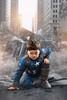 Max Cosplay - Captain America (John Car.) Tags: marvel superhero captain america cosplay shield avengers age ultron nyc new york street landing kids costume max car children muscle