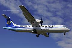 "ATR 72-600, B-16851, ""Mandarin Airlines"", RCSS, Taipei, Taiwan (Daryl Chapman Photography) Tags: atr atr72600 ae mandarinairlines 1460 mda taipei runway10 plane planes aviation aviationphotography canon 5d mkiii 70200l planespotting songshan"