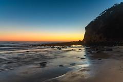 Sunrise Seascape (Merrillie) Tags: daybreak sunrise nature australia water newsouthwales rocks earlymorning nsw centralcoast beach ocean morning sea landscape coastal macmastersbeach sky seascape waterscape coast dawn waves