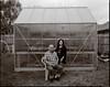 Mom and Dad, 8x10 (Wet Possum) Tags: 8x10 bwnegative backyard blackandwhite cedarpark christmas2017 deardorff family greenhouse hp5 nikkorw240mmf56 parents portrait xtol11 epsonscan f11 film ilford ilfordhp5 largeformat scan v700
